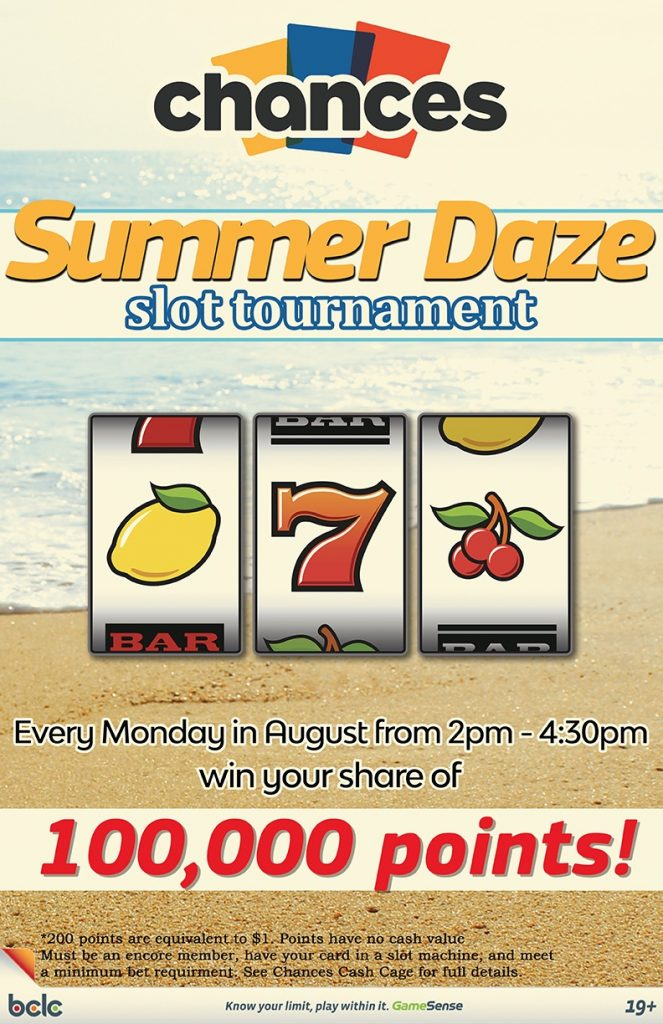 Chances - Summer Daze Slot Tournament WEB 2017
