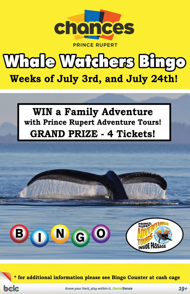 Chances - Whale Watchers Bingo WEB 2017