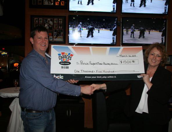 Chances donates to Prince Rupert Minor Hockey Association